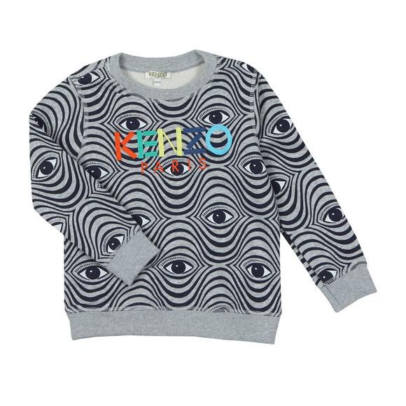 Kenzo Kids Boys Grey Fergal Wax Kenzo Sweatshirt