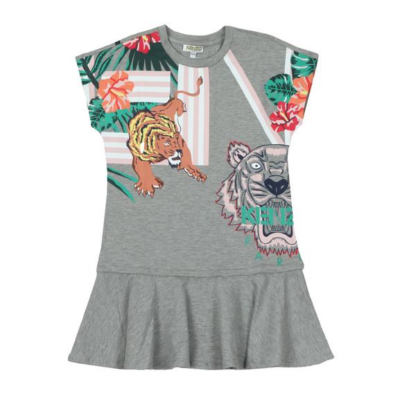 Kenzo Kids Girls Grey Felice Hawai Kenzo Dress