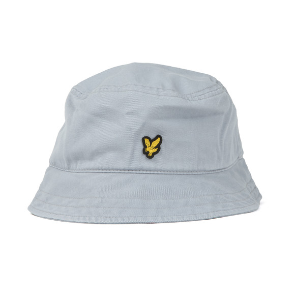Lyle and Scott Mens Blue Washed Twill Bucket Hat main image