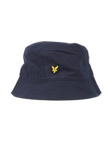 Lyle and Scott Mens Blue Twill Bucket Hat