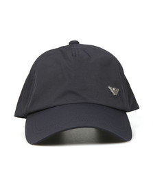Emporio Armani Mens Blue Metal Logo Cap