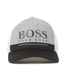 BOSS Mens Grey Athleisure Logo Cap