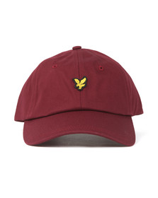 Lyle and Scott Mens Red Cotton Twill Baseball Cap