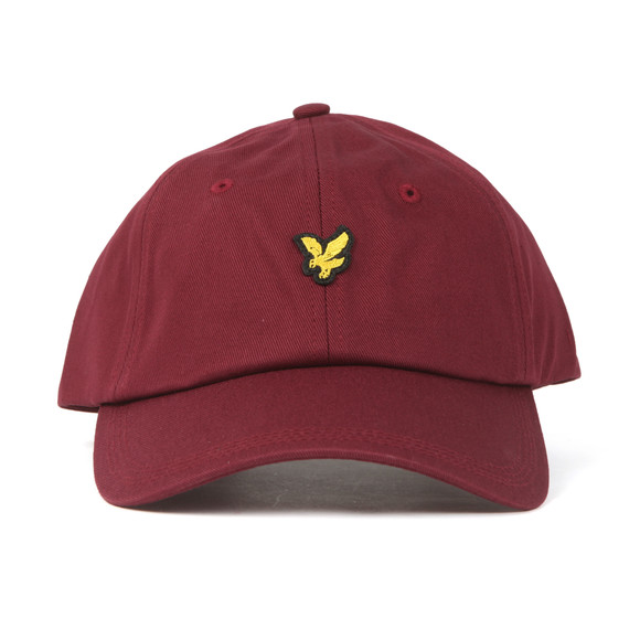 Lyle and Scott Mens Red Cotton Twill Baseball Cap main image