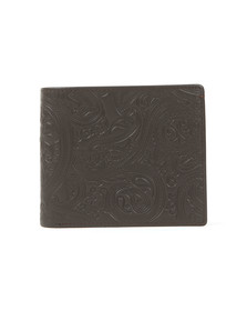 Pretty Green Mens Brown Paisley Embossed Bifold Wallet