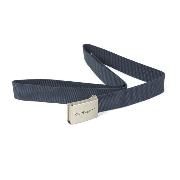 Carhartt Mens Blue Clip Belt Chrome main image