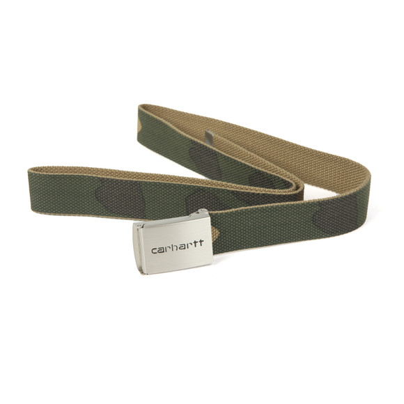 Carhartt Mens Green Clip Belt Chrome main image