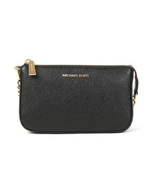 Michael Kors Womens Black Mid Chain Pouch
