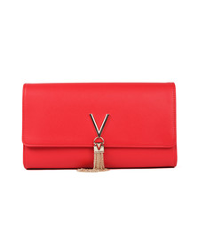 Valentino by Mario Womens Red Divina SA Clutch