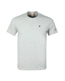 Champion Mens Grey Reverse Weave Small Logo Back Script T Shirt