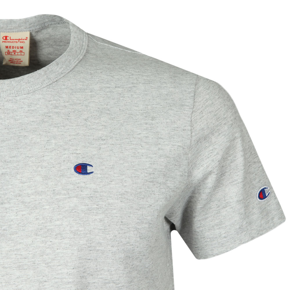 93fe1015 Champion Reverse Weave Small Logo Back Script T Shirt | Oxygen Clothing