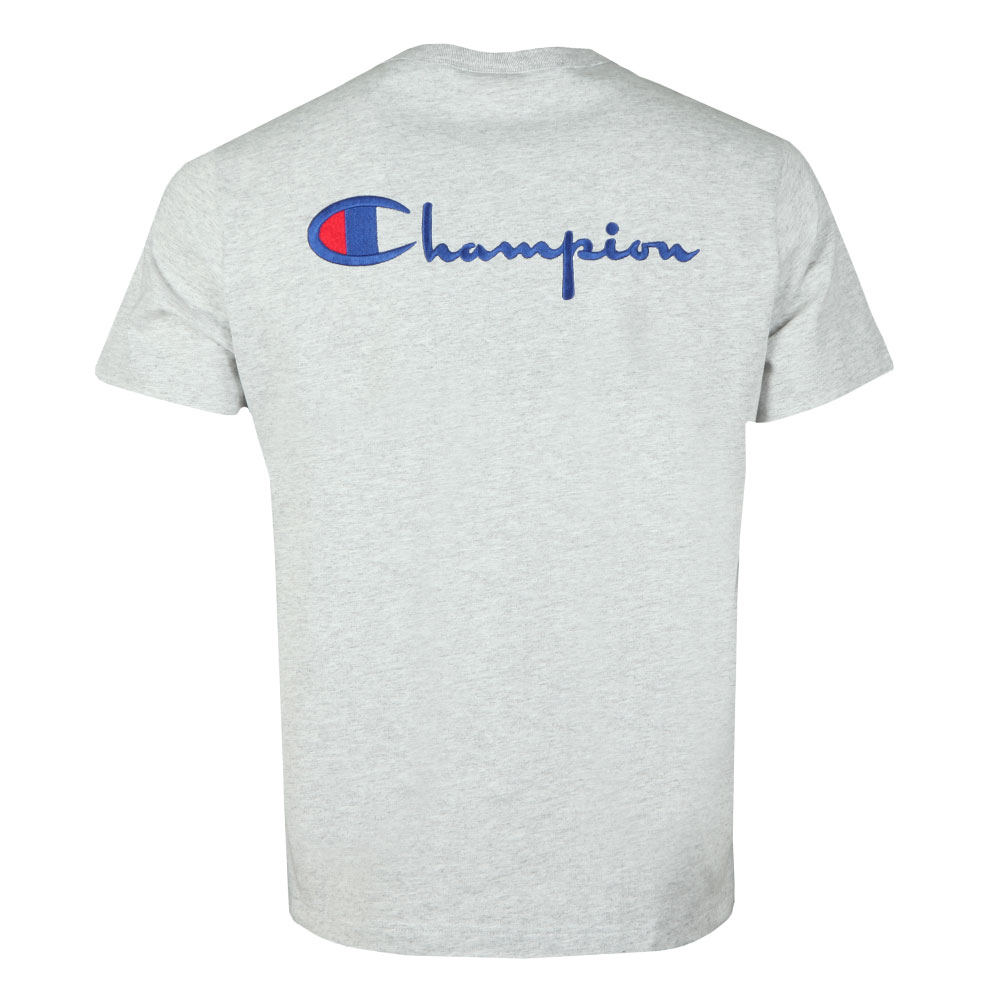 34925c61 Champion Reverse Weave Small Logo Back Script T Shirt | Oxygen Clothing