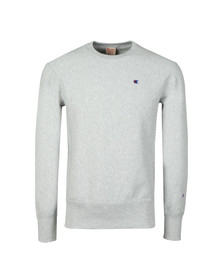 Champion Mens Grey Reverse Weave Small Logo Sweatshirt