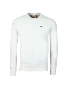Champion Mens White Reverse Weave Small Logo Sweatshirt