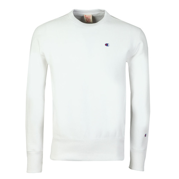 Champion Reverse Weave Mens White Small Logo Sweatshirt main image