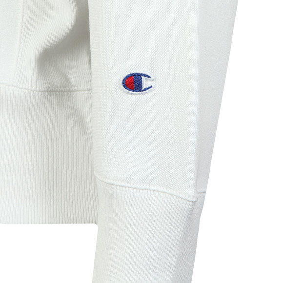 Champion Reverse Weave Mens White Small Logo Sweatshirt main image