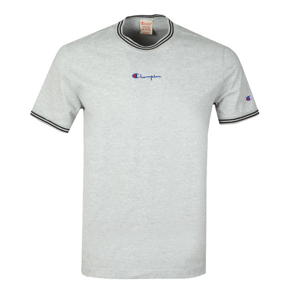 Champion Mens Grey Reverse Weave Tipped Neck T Shirt main image