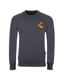 Vivienne Westwood Anglomania Mens Grey Classic Sweatshirt With Badge
