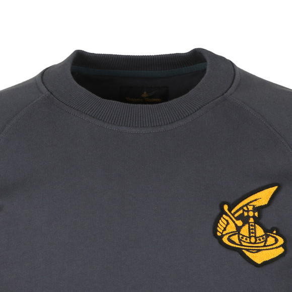 Vivienne Westwood Anglomania Mens Grey Classic Sweatshirt With Badge main image