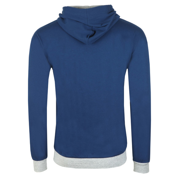BOSS Bodywear Mens Blue Authentic Stripe Detail Hoody main image