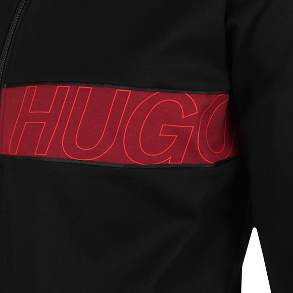 HUGO Mens Black Dalais Full Zip Sweatshirt