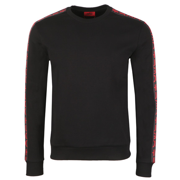 HUGO Mens Black Doby Tape Sweatshirt main image