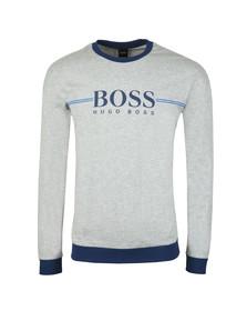 BOSS Bodywear Mens Grey Authentic Stripe Detail Sweatshirt