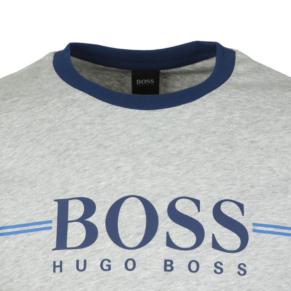BOSS Bodywear Mens Grey Authentic Stripe Detail Sweatshirt main image