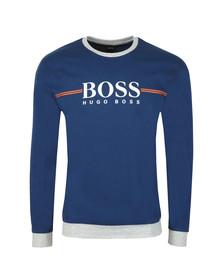 BOSS Bodywear Mens Blue Authentic Stripe Detail Sweatshirt