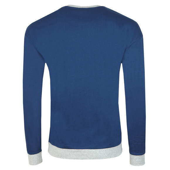 BOSS Bodywear Mens Blue Authentic Stripe Detail Sweatshirt main image