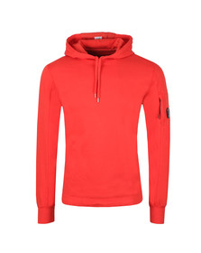 C.P. Company Mens Red Viewfinder Sleeve Overhead Hoody