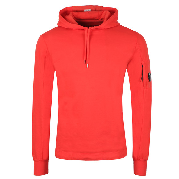 C.P. Company Mens Red Viewfinder Sleeve Overhead Hoody main image