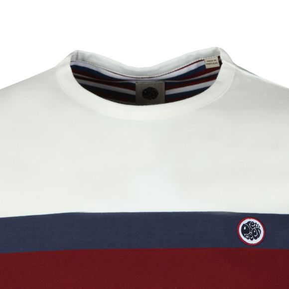 Pretty Green Mens Red Colour Block Tee main image