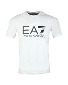 EA7 Emporio Armani Mens White Large Logo Crew T Shirt
