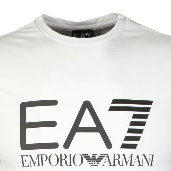EA7 Emporio Armani Mens White Large Logo Crew T Shirt main image