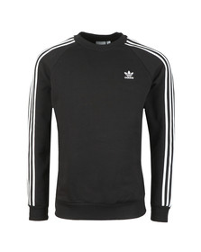 adidas Originals Mens Black 3 Stripes Sweatshirt