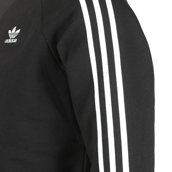 adidas Originals Mens Black 3 Stripes Sweatshirt main image