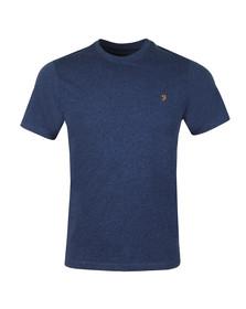 Farah Mens Blue Denny Crew T-Shirt