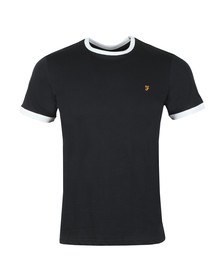 Farah Mens Blue Groves Ringer Tee