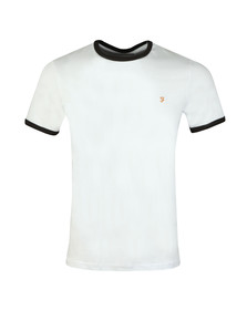Farah Mens White Groves Ringer Tee