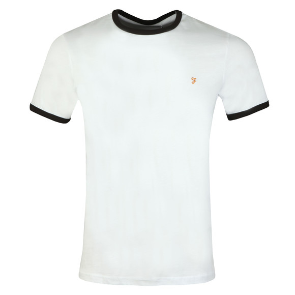 Farah Mens White Groves Ringer Tee main image