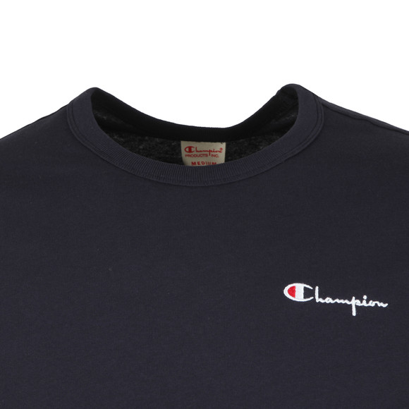 Champion Reverse Weave Mens Blue Small Script Logo T-Shirt main image