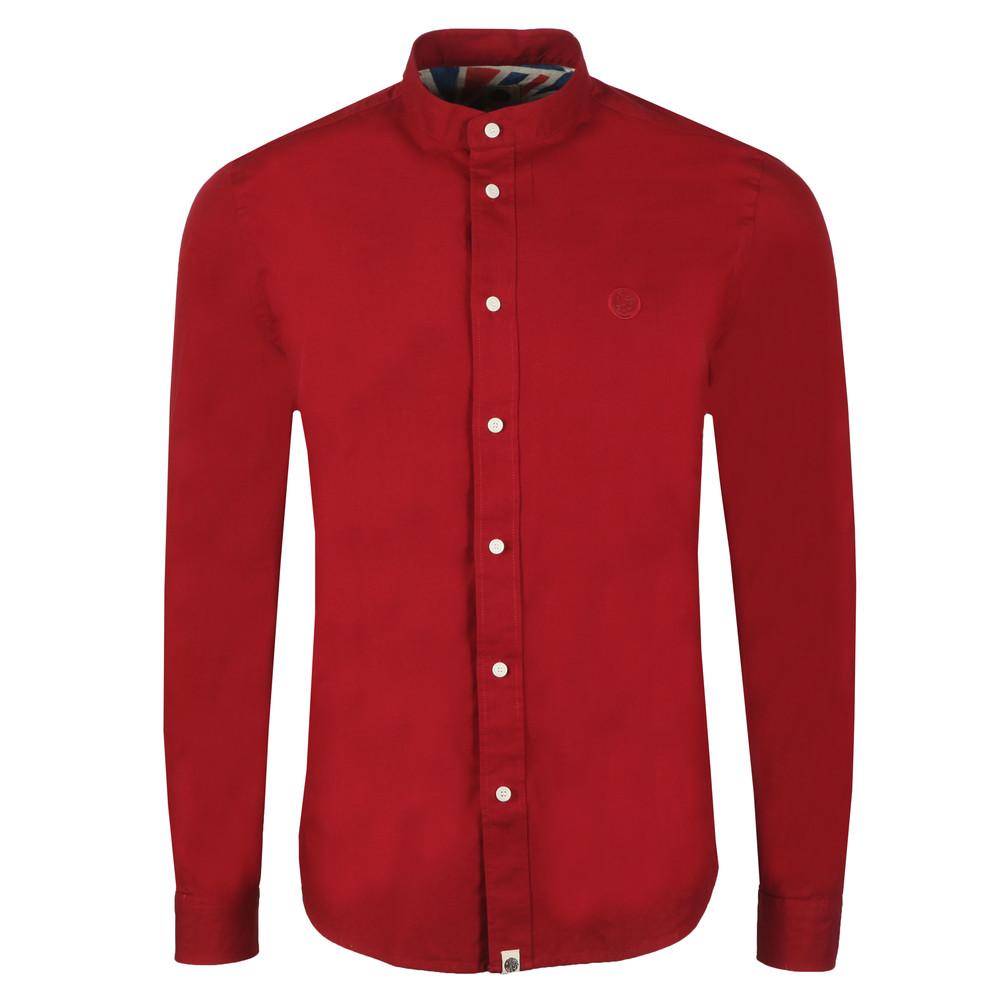 Slim Fit Collarless Shirt main image