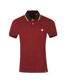 Pretty Green Mens Red Tipped Pique Polo
