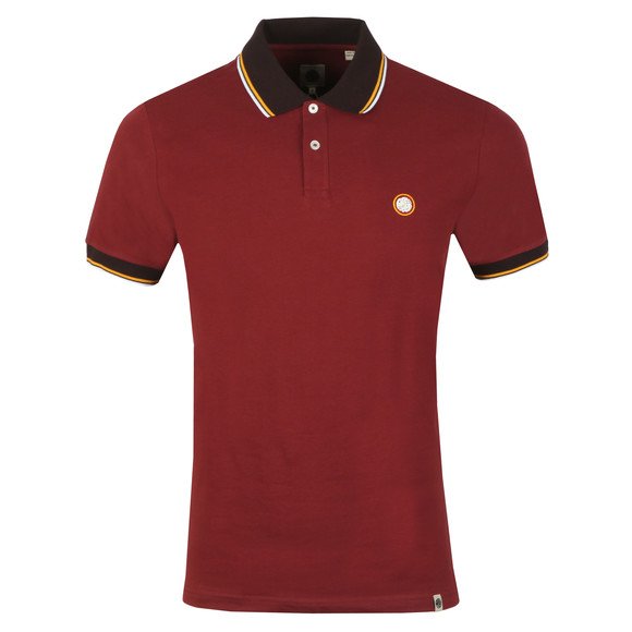Pretty Green Mens Red Tipped Pique Polo main image