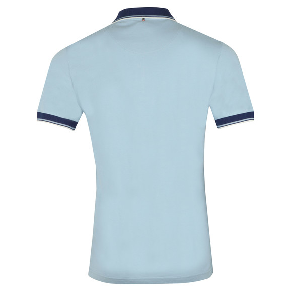 Pretty Green Mens Blue Tipped Pique Polo main image
