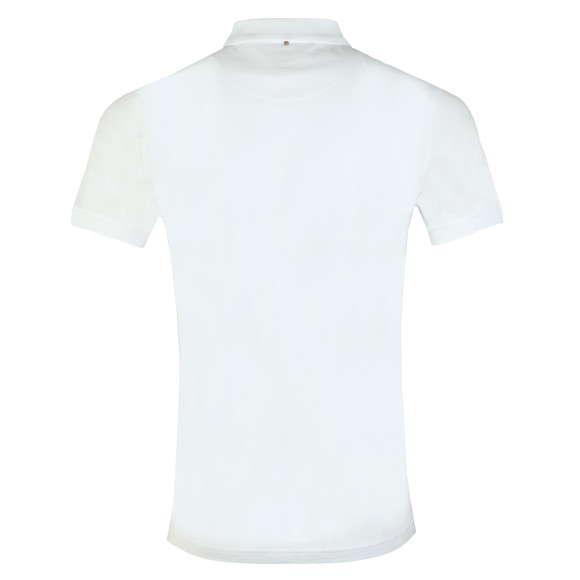 Pretty Green Mens White Jersey Polo Shirt main image