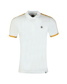 Pretty Green Mens White Contrast Panel Polo