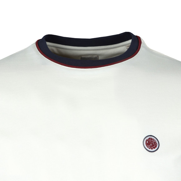 Pretty Green Mens Off-White Pipping Tipped Tee main image