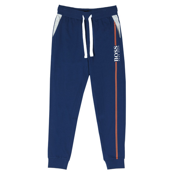BOSS Bodywear Mens Blue Authentic Stripe Detail Sweatpant main image